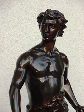 Superb Antique Male Nude Bronze by Gaudez
