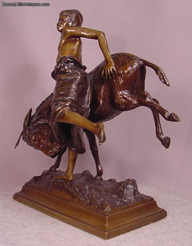 Paul Aichele German 1859-1910 Vienna Bronze Blackamoor Boy with Donkey