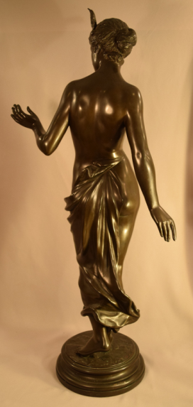Exquisite Antique Semi Nude Lady Bronze Signed A. Mayer German 1855-1939