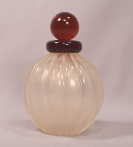Beautiful Vintage Venetian Art Glass Perfume Bottle