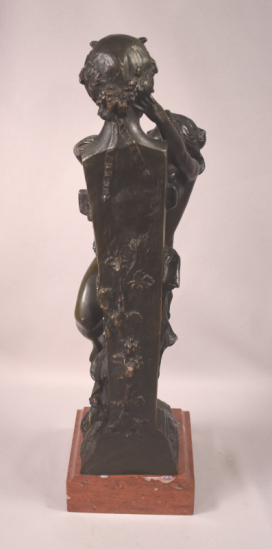 Rare Antique Model Of A Female Nude Embracing A Term After Clodion