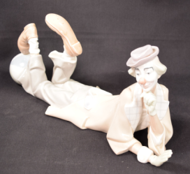 "Lladro Porcelain Clown Model #4618 ""Payaso Acostado"""