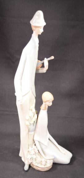 "Lladro Porcelain Figurine Model #1039 ""Violinist And Girl"""