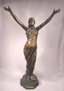 Salambo Orientalist Female Bronze Sculpture Signed J. Garnier (1853-1910 French)