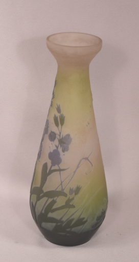 Beautiful Antique Original Signed Galle French Cameo Art Glass Vase 8-1/8 Inches