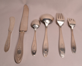 International Wedgwood Sterling Silver Flatware Set 65 pieces 69 Troy Ounces