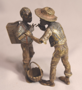 Rare Antique Bergman Vienna Bronze 2 Black Boys Smoking Geschutzt 4219
