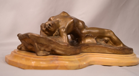 Beautiful Art Nouveau Bronze Nude Nymph On The Waves Joseph Gustave Cheret French 1838-1894