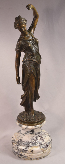 Antique Grand Tour European Bronze Dancing Woman