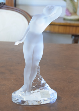 Lalique Nude Dancer Arm Out MSRP In The 1999 Lalique Catalogue $1040.