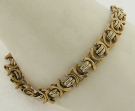 Vintage 14K Gold Ladies Designer Made Bracelet 9 Grams 8-1/2 Inches