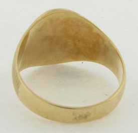14K Gold Signet Ring 7.1 Grams Size 10 Plus
