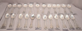 Grande Baroque Sterling Silver Set Service For 12 Six Pieces Per Place Setting
