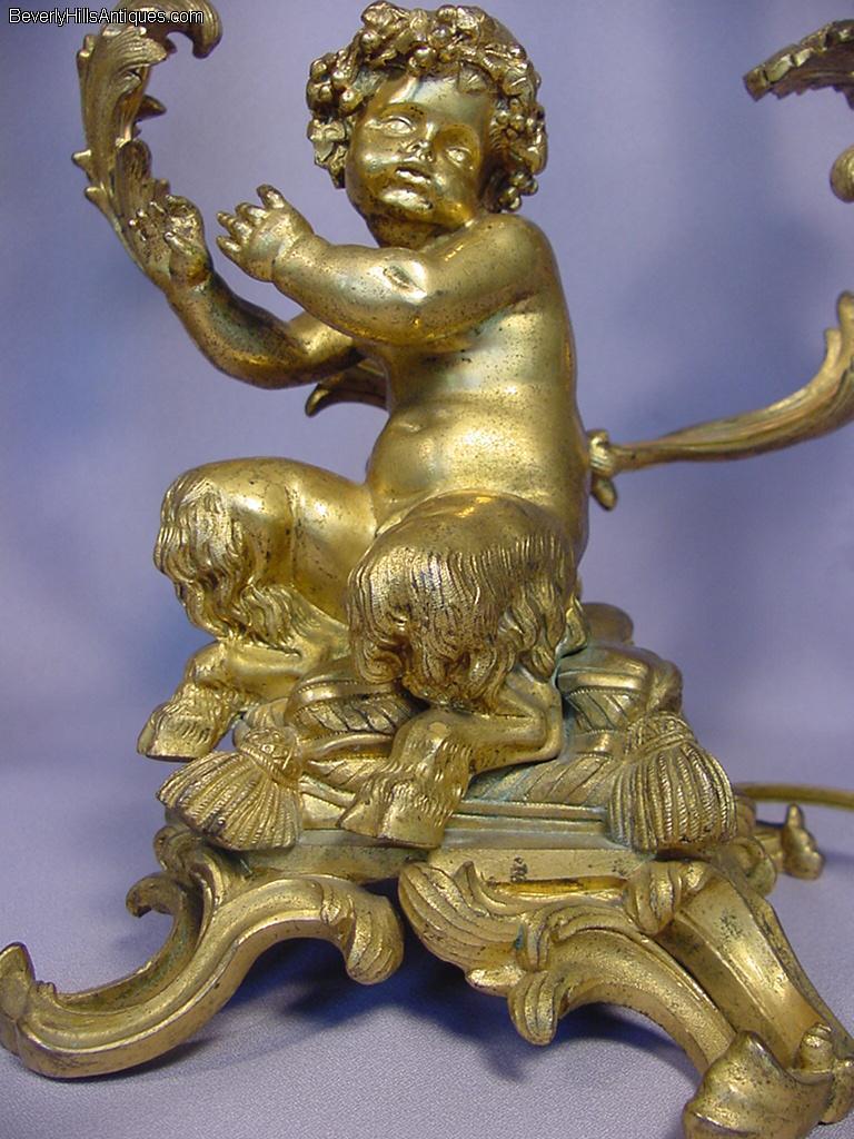Click Image To Find More Men S Fashion: Superb Pair Gilt Bronze Baby Satyr Candelabras